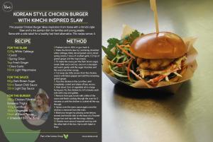 Vive - Chicken Burger recipe