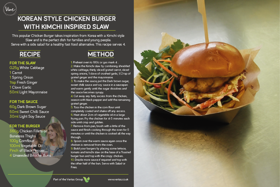 Vive - Chicken Burger recipe